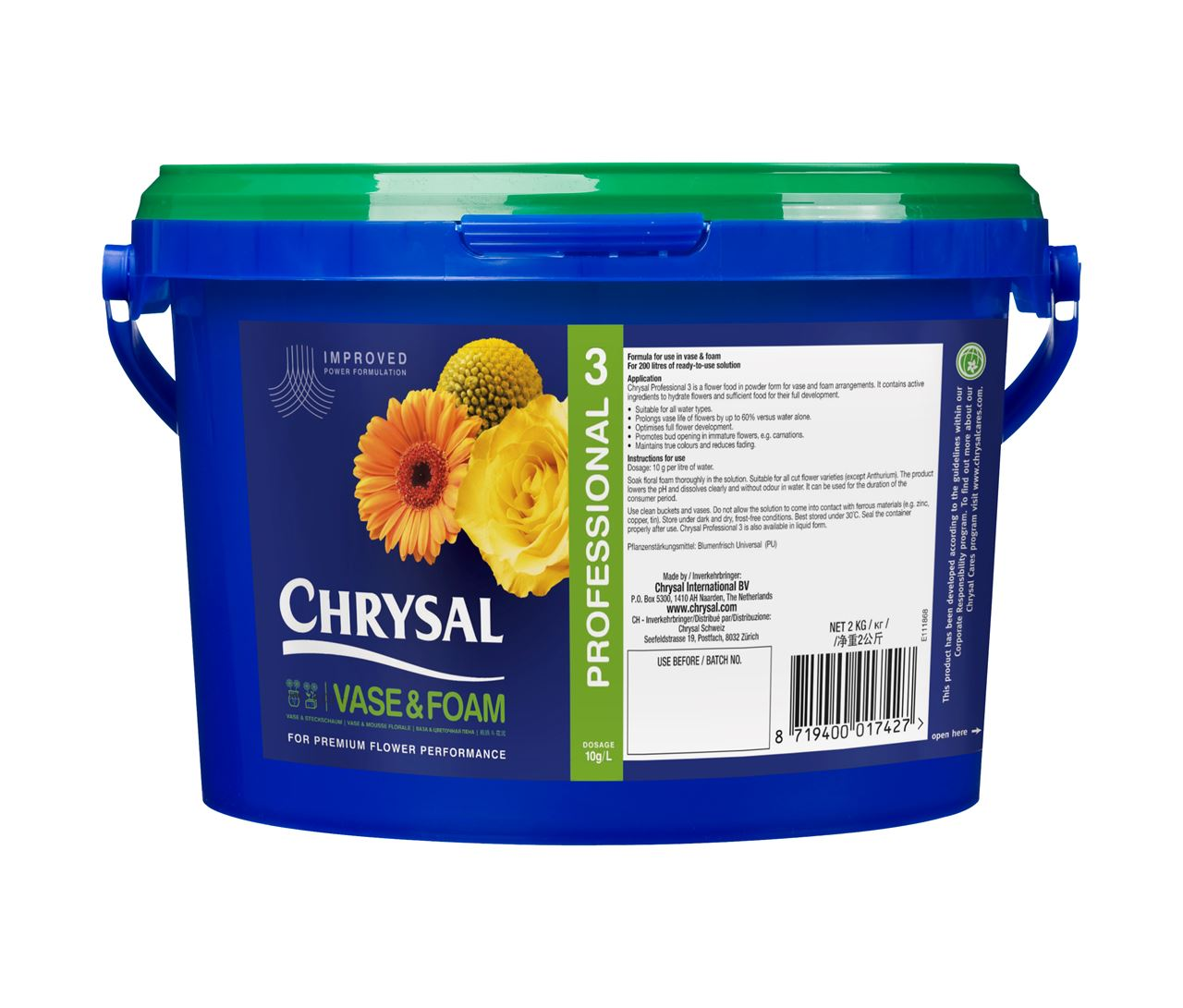 Chrysal professional 3 flower food bucket chrysal international chrysal professional 3 flower food bucket reviewsmspy