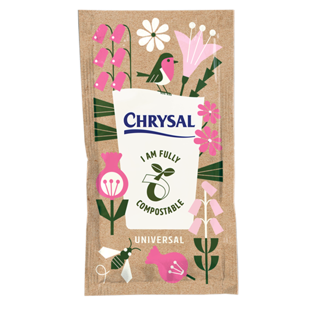 Afbeelding van Chrysal Compostable Sachet snijbloemenvoeding zakjes 1L